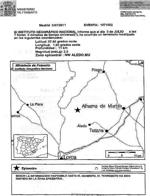 Esta madrugada se ha producido un terremoto en Aledo, Foto 2