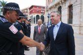 La Policía Local se presenta ante el nuevo alcalde