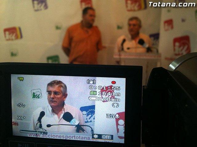 Rueda de prensa IU-verdes Totana 05/07/2011, Foto 1