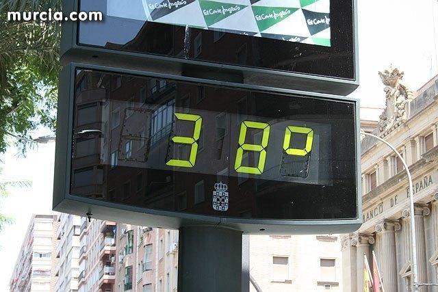 La AEMET situa a la Región de Murcia manaña día 6 de julio, en Nivel de alerta amarilla por aumento de las temperaturas, Foto 1