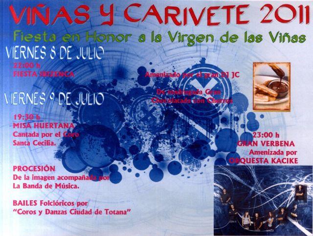 Las fiestas de la pedanía de Viñas-Carivete arrancan mañana 8 de julio con una fiesta ibicenca, Foto 1