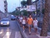 Éxito de participación y buen ambiente en las caminatas nocturnas de verano organizadas por la concejalía de Deportes