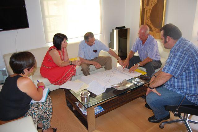 La alcaldesa y el director general del Agua visitan las obras de ampliación de la Estación Depuradora de Totana, Foto 2