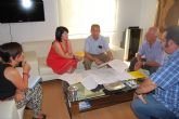 La alcaldesa y el director general del Agua visitan las obras de ampliación de la Estación Depuradora de Totana