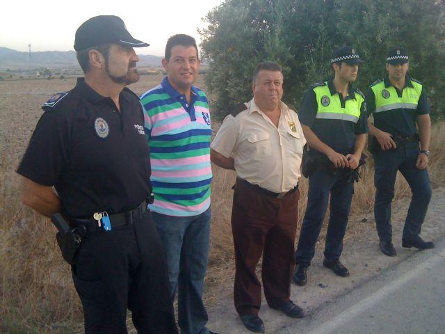 Los concejales de Seguridad Ciudadana y Agricultura acompañan a los agricultores en las labores de vigilancia que se realizan en coordinación con la Policía Local, Foto 1