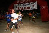 Alta participación en la carrera nocturna