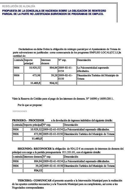 IU-verdes denuncia que el Ayuntamiento ha tenido que devolver a la Comunidad Autónoma, en agosto, casi 20.000 € de subvenciones en materia de empleo, Foto 2