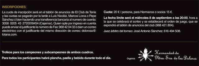 El próximo sábado tendrá lugar el III Torneo de Pádel La Dolorosa, Foto 2