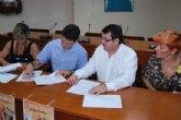 El Ayuntamiento de Alhama firma el convenio anual con la Asociaci�n de Comercio