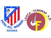 La Peña Atletico de Madrid de Totana colabora con el fútbol femenino Lorca Féminas