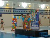 46 nadadoras participan en la Exhibici�n de Nataci�n Sincronizada