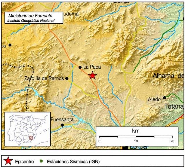 Un terremoto de 3,5 º con epicentro en Aledo se deja sentir en Totana, Foto 1