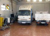 La Guardia Civil recupera gran cantidad de efectos sustra�dos y varios veh�culos en Alhama de Murcia