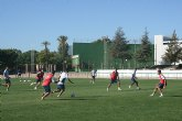 """El FC Cartagena entrena durante los últimos dos días en las instalaciones del Polideportivo Municipal """"6 de Diciembre"""""""