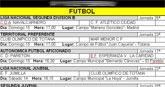 Agenda deportiva fin de semana 22 y 23 de octubre de 2011
