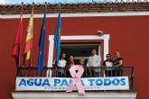El Ayuntamiento se une a la campaña contra el c�ncer de mama y tambi�n se viste de rosa
