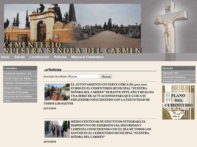 "The website Municipal Cemetery ""Nuestra Señora del Carmen"" has over 30,200 visits - 1"