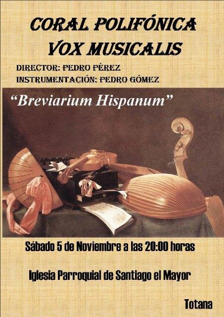 Vox Musicalis interpretará un repertorio de obras de música vocal medieval y renacentista dentro del programa Breviarium Hispanum, Foto 1
