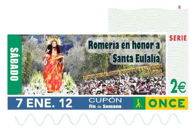 La tradicional Romería que se celebra en honor a Santa Eulalia será la imagen del cupón de la ONCE en el sorteo del 7 de enero de 2012, Foto 1
