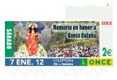 La tradicional Romería que se celebra en honor a Santa Eulalia será la imagen del cupón de la ONCE en el sorteo del 7 de enero de 2012