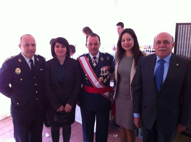 Autoridades municipales asisten al acto de jura de bandera en el marco de las II Jornadas de Caza, Turismo y Gastronomía, Foto 4