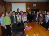 Autoridades municipales asisten a la inauguración del curso de la Asociación de Amas de Casa, Consumidores y Usuarios Las Tres Avemarías