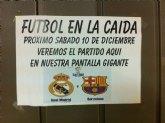 Retransmisión del Madrid-Barcelona en La Caída