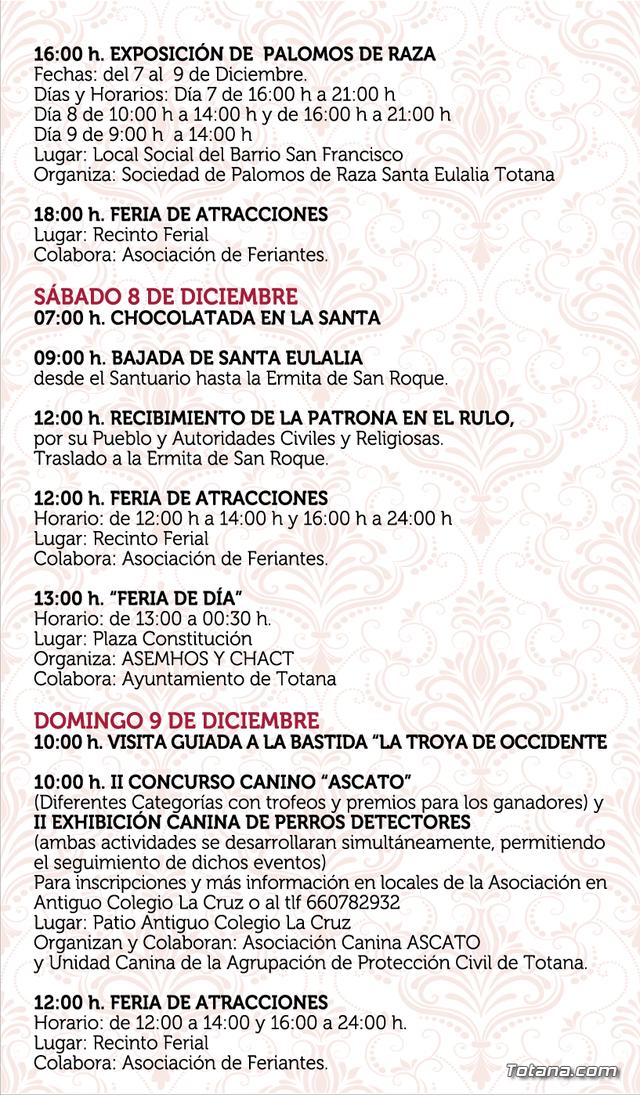 The program of the patron saint festivities of Santa Eulalia'2018, Foto 6