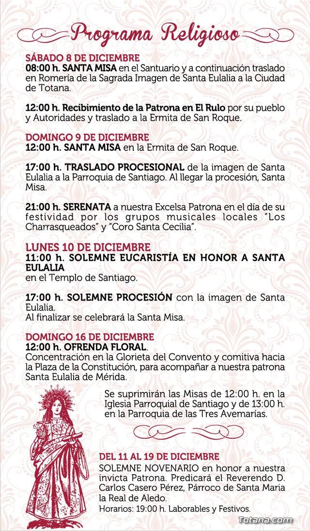The program of the patron saint festivities of Santa Eulalia'2018, Foto 9
