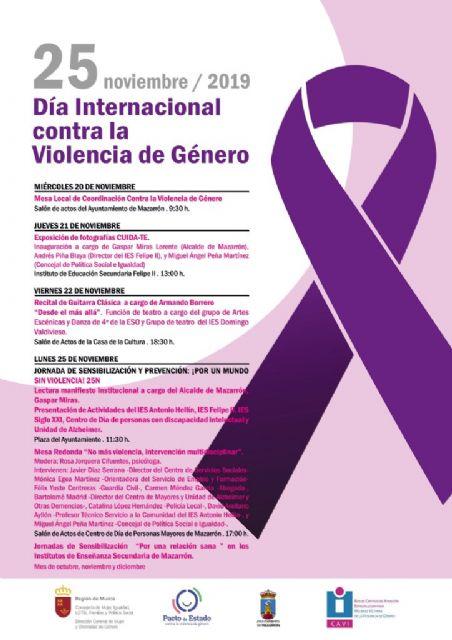 Mazarrón se une 'por un mundo sin violencia' para luchar 'contra la violencia de género' - 2, Foto 2
