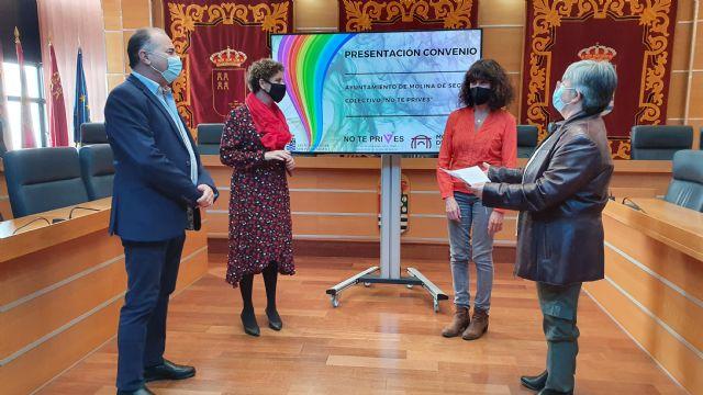 El Ayuntamiento de Molina de Segura y el Colectivo No te prives LGTBI de la Región de Murcia firman un convenio para la realización de actividades de sensibilización contra la LGTBIfobia en 2020 - 4, Foto 4