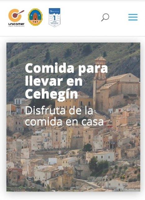 """La concejalía de Comercio crea la web """"Ceheginselleva"""" para facilitar el servicio de comidas a domicilio de la hostelería del municipio - 1, Foto 1"""