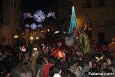 Más de 300 personas componen la cabalgata de Reyes Magos que recorre las calles de Totana esta tarde