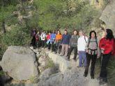 Senderistas se adentran en el corazón del Parque Regional de Sierra Espuña en la última ruta organizada por la concejalía de Deportes