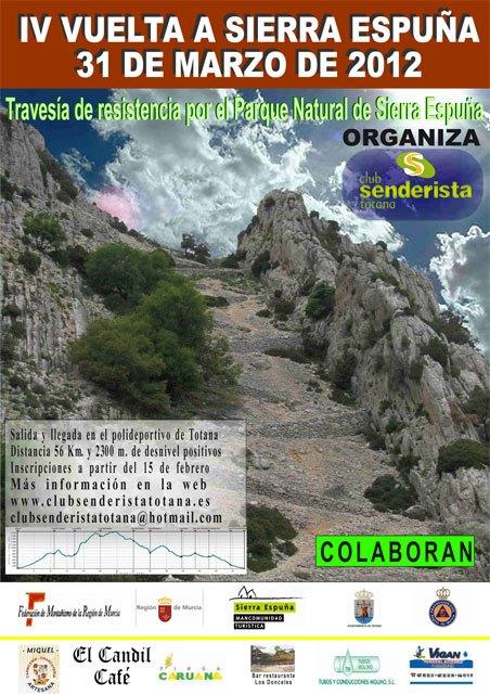La IV Vuelta a Sierra Espuña tendrá lugar el próximo 31 de marzo, Foto 1