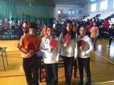 El colegio Ginés García a las puertas de las semifinales en la fase final regional de tenis de mesa escolar