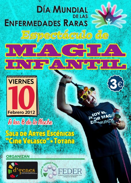 El próximo viernes día 10 de febrero tendrá lugar un espectáculo de magia infantil, Foto 1