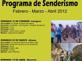 La concejalía de Deportes organiza este domingo, día 12, una nueva ruta de senderismo por el litoral de Cartagena