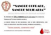 La II campaña solidaria de donación de sangre promovida por el Ilustre Cabildo tendrá lugar el próximo viernes 24 de febrero