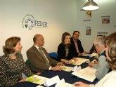 Juan Carrión, delegado de FEDER en Murcia, participa en la reunión celebrada en la sede de FEDER junto a la Princesa Leticia