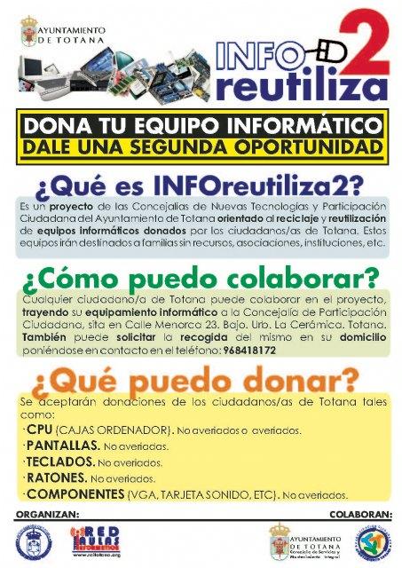 Las concejalías de Nuevas Tecnologías y Participación Ciudadana promueven la campaña Inforeutiliza2, Foto 1
