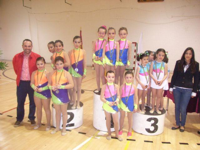 Más de 200 gimnastas procedentes de Lorca, Alhama y Totana han participado en la competición de Gimnasia Rítmica, Foto 1