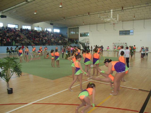 Más de 200 gimnastas procedentes de Lorca, Alhama y Totana han participado en la competición de Gimnasia Rítmica, Foto 3