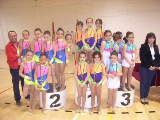 Más de 200 gimnastas procedentes de Lorca, Alhama y Totana han participado en la competición de Gimnasia Rítmica, Foto 4