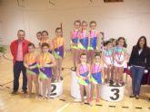Más de 200 gimnastas procedentes de Lorca, Alhama y Totana han participado en la competición de Gimnasia Rítmica