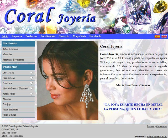 "Coral Jewelry and has a ""bright"" Superweb to shop on-line, Foto 1"