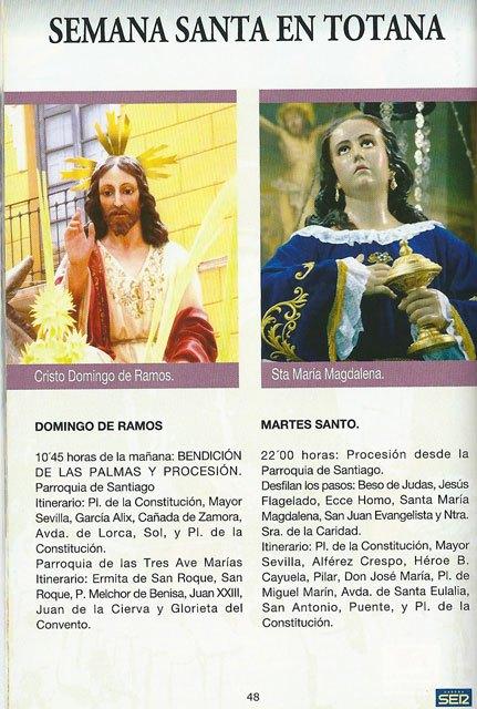 Ya se puede recoger la guía de Semana Santa SER Cofrades en la Oficina de Turismo de Totana, Foto 1