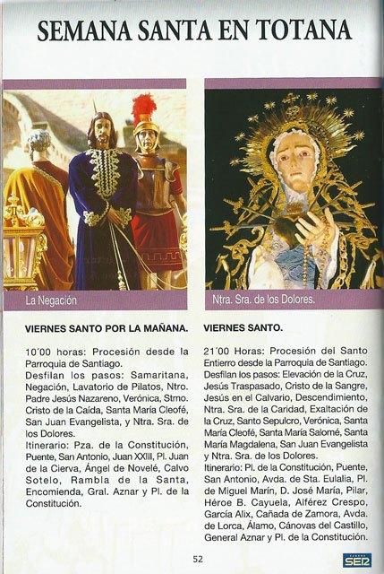 Ya se puede recoger la guía de Semana Santa SER Cofrades en la Oficina de Turismo de Totana, Foto 3