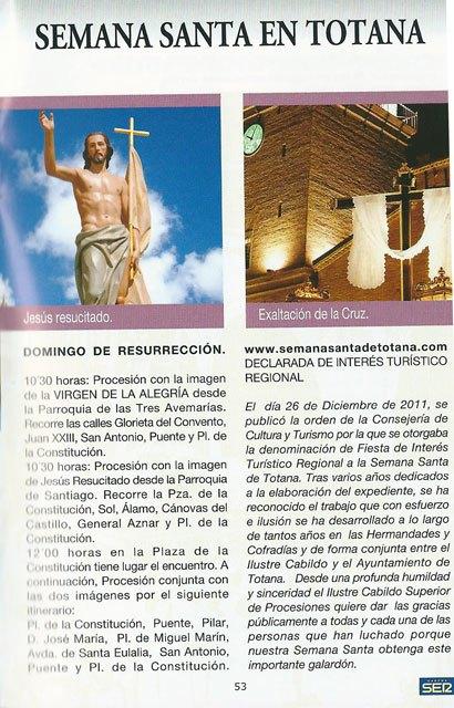 Ya se puede recoger la guía de Semana Santa SER Cofrades en la Oficina de Turismo de Totana, Foto 4