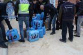 Incautados 2.250 kilogramos de hachís que iba a ser introducido de madrugada a través de la costa murciana